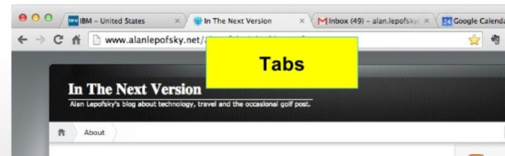 Tabs in Lotus Notes