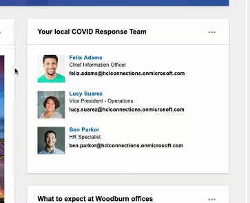 People widget in HCL Connections V7