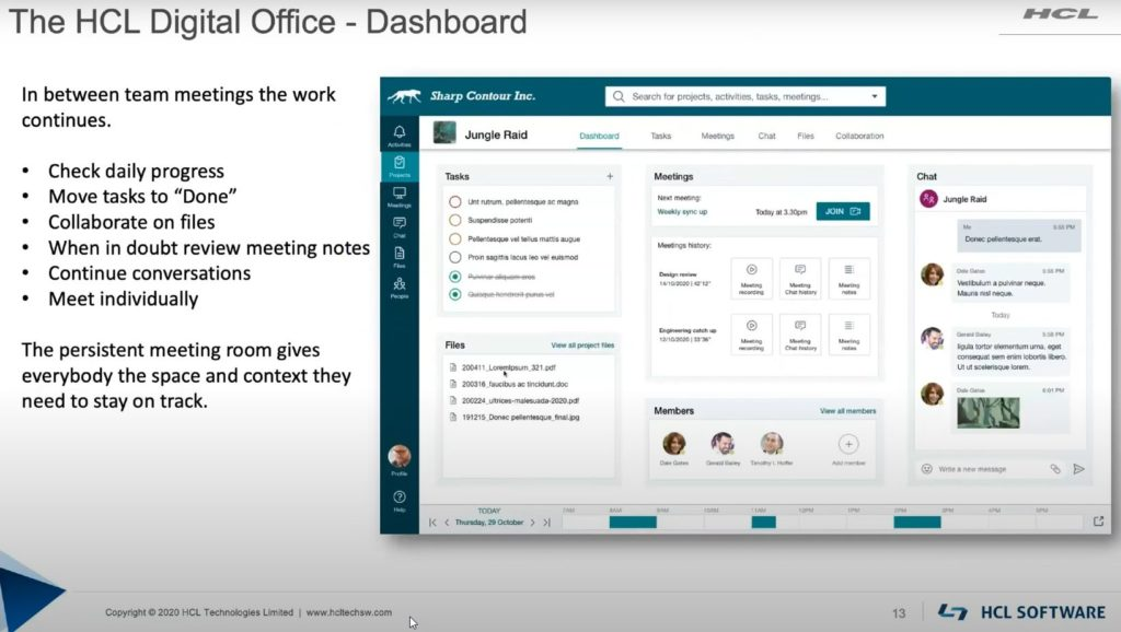 The HCL Digital Office Dashboard